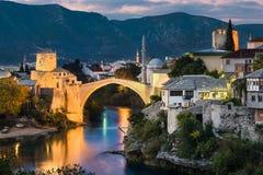 Bosnienbro herzegovina gammala mostar Royaltyfri Fotografi