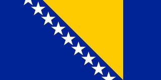 Bosnienflagga herzegovina Royaltyfria Foton