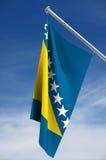 Bosnienflagga herzegovina Arkivfoton