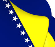 Bosnienflagga herzegovina royaltyfri illustrationer