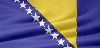 Bosnienflaggaherzegowina Royaltyfri Fotografi