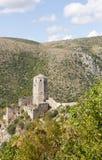 Bosnienfort herzegovina mostar nära pocitelj Royaltyfri Bild