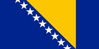 BosnienHerzegovinan flagga, plan orientering, illustration Royaltyfri Fotografi