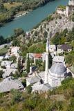 Bosnienmoské mostar nära pocitelj Arkivbilder