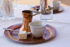 Bosnische koffie Royalty-vrije Stock Foto's