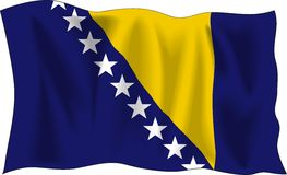 bosnisk flagga Arkivfoton