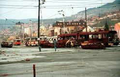 BOSNISK INBÖRDESKRIG Arkivbild