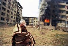 BOSNISK INBÖRDESKRIG Arkivbilder