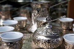 bosnisk kaffeset Arkivbilder