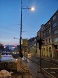 Bosnisk stadsmitt i Sarajevo arkivbild
