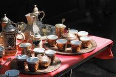 Bosniska kaffeuppsättningar Arkivfoto