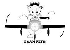 Boso latanie na samolocie Mogę latać Zdjęcia Royalty Free