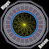 Boson Higgs, kvantmekaniker, HadronCollider Resa i utrymmet Stor smällillustration Abstrakt kosmiskt för vektor royaltyfri illustrationer