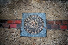 The Bosoton Freedom trail sign royalty free stock photos