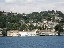 Bosphorus伊斯坦布尔历史大厦 库存照片
