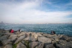 Bosphorus在伊斯坦布尔,土耳其 图库摄影