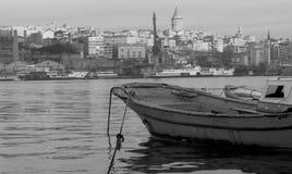 bosphorus桥梁轮渡通过火鸡的伊斯坦布尔 库存照片