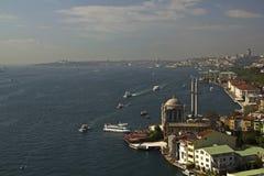 从Bosphorus桥梁,伊斯坦布尔,土耳其, 10/2010的Lanscape 库存图片