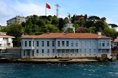 Bosphorus的传统江边房子 免版税库存照片