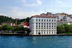 Bosphorus的传统江边房子 库存照片
