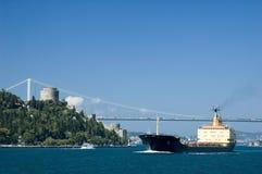 bosphorus集装箱船 库存照片