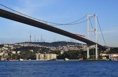 Γέφυρα Bosphorus, Ιστανμπούλ, Τουρκία στοκ φωτογραφίες με δικαίωμα ελεύθερης χρήσης