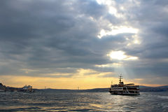 Bosphorus στη Ιστανμπούλ, Τουρκία Στοκ Φωτογραφίες