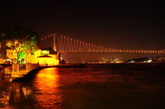 Bosphorus. View of Istanbul at night Royalty Free Stock Photography