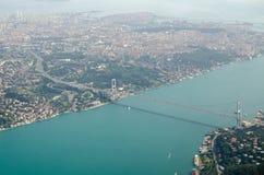 Первый мост Bosphorus, Стамбул Стоковые Изображения RF