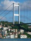 Bosphorus. Suspension bridge across the Bosphorus in Istanbul stock photo