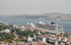 Bosphorus from above, Istanbul Royalty Free Stock Photos