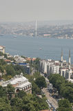 Bosphorus from above, Istanbul Stock Photography