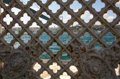 Bosphorus behind fence Stock Photo