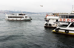 Bosphorus boat trip Royalty Free Stock Images