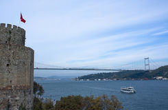 Bosphorus Brücke Stockfotos