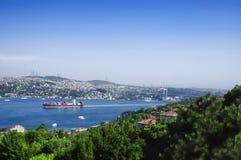 Bosphorus-Brücke in Istanbul Lizenzfreies Stockbild
