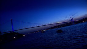 Bosphorus-Brücke in Istanbul, die Türkei (Zeit-Versehen) stock footage