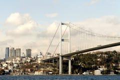 Bosphorus Brücke und u. Ortakoy, Istanbul, die Türkei Lizenzfreies Stockfoto