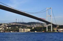 Bosphorus Br?cke, Istanbul, die T?rkei lizenzfreie stockfotos