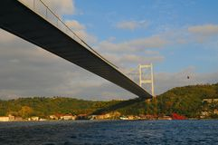 bosphorus bridżowy Istanbul Obrazy Royalty Free