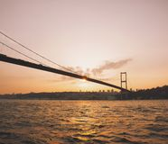 bosphorus bridżowy Istanbul indyk obrazy royalty free