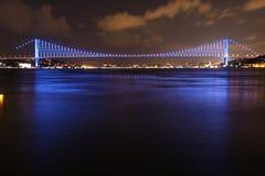 Bosphorus Bridge. Night shot of Bosphorus Bridge from Istanbul Turkey royalty free stock photography