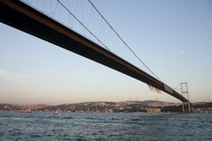 Bosphorus and bridge Royalty Free Stock Photography