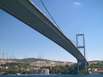 Bosphorus Bridge. In Istanbul, Turkey Royalty Free Stock Photo