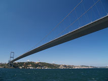 Bosphorus Bridge. In Istanbul, Turkey Royalty Free Stock Photography
