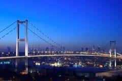 Bosphorus Bridge. Istanbul Bosphorus Bridge at night stock photos