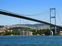 Bosphorus bridge. View from water level stock images