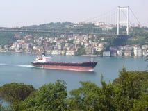 Bosphorus Bridge. The Bosphorus Bridge in Istanbul Turkey Stock Images
