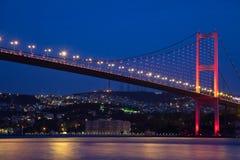 Bosphorus Bridge. Bosporus Bridge at the istanbul Turkey Royalty Free Stock Photos