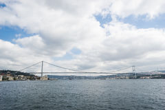 Bosphorus Bridge. Bule sea and sky Royalty Free Stock Images